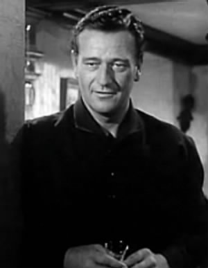 Screenshot of John Wayne from the trailer for the film Wake of the Red Witch.