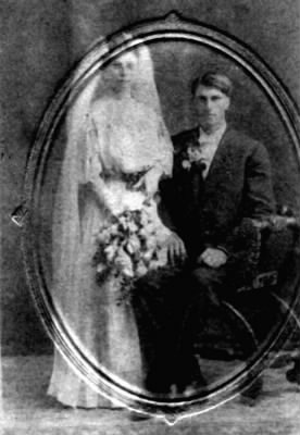 Theodore Thompson and Christina Hillestad Wedding 1908