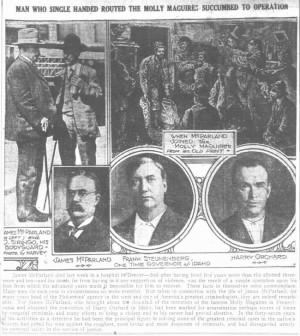 6/2/1919 - Man Who Single Handed Routed The Molly Maguires Succumbed To Operation