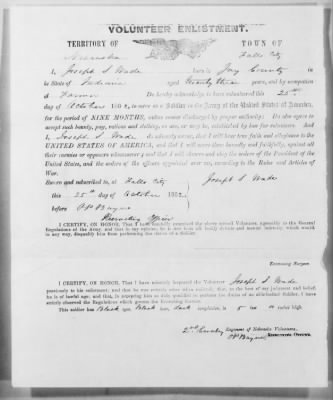 Page 16 Civil War enlistment record