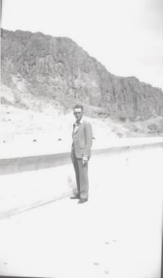Charles E Nelson on top of Hoover Dam.