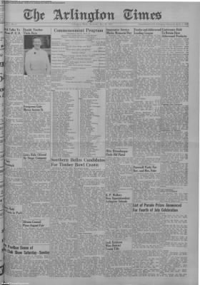 1951-May-31 The Arlington Times, Page 1