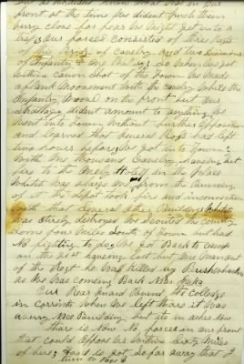 George M Detwiler letter Corinth, MS burning description Civil War