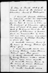 Court Slave Records for DC