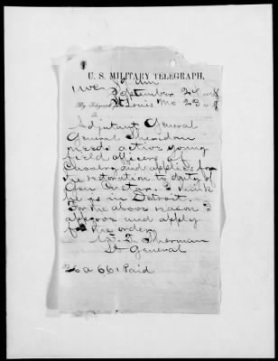 Sherman's request to have Custer's sentence remitted