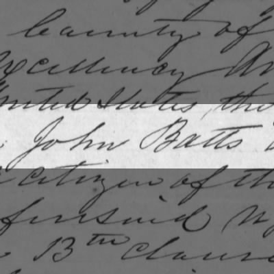 Confederate Amnesty Papers of John Batts; Ancestor of Paula Deen