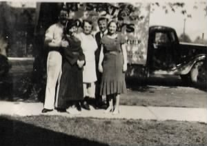 George, Mary, and Vi with friends.jpg