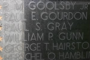 Paul's name at war monument