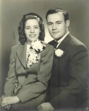 Arthur Eugene & Mary Louise Barrone Wedding Picture