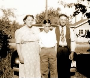 Grace, son Eugene & husband Louis, June 1940