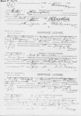 Soapes-Walker Marriage license
