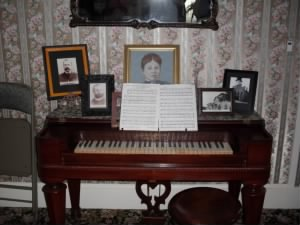 Piano at Lizzie Borden Inn