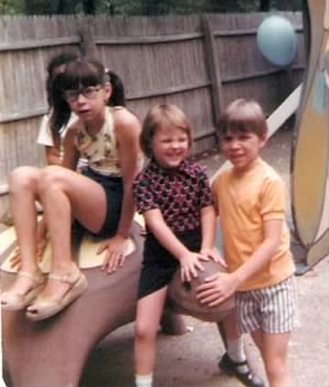late 1970s elmwood park CHRISSY DAVID AND ME!