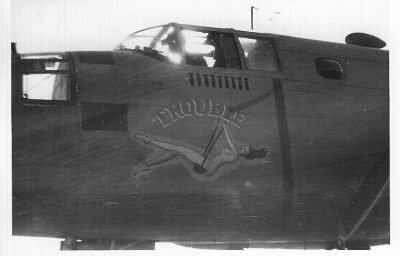 "9 Missions, TROUBLE #41-13209, B-25 Mitchell, KNAPP Flight Over. ""Trouble"" got her ART in the USA, and was named after Harolds ""OLDER"" Sister !  #41-13209"