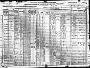 Jerome H Schaffer, 1920 Census with younger brother, Irving.