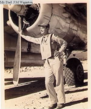Capt J Maurice Wiginton, Pilot with his B-25 Mitchell !