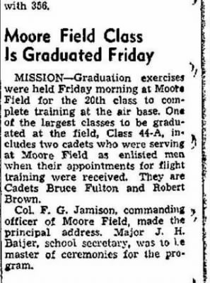 Lt Bruce W Fulton, Fighter Pilot /Newspaper Article (3 of 3)