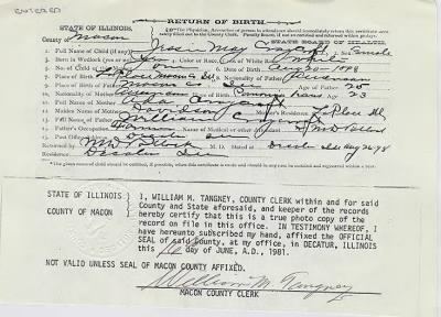 Jessie May Craycroft birth certificate - Fold3.com