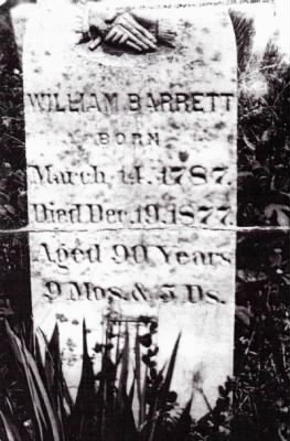GS4- William C. Barrett, Sr (1787-1877), Grant Cem.jpg