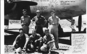 "T/Sgt James E ""Jimmie"" Stanton, His B-25 CREW, 321stBG,447thBS"