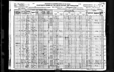 US 1920 Census - mary cepuch