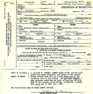 James Robert Craycroft birth certificate