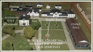 R. E. LEE CAMP No. 1 Soldiers' Home, CAMP GROUNDS - Museum, Dining Hall, Hospital