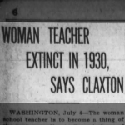 Prediction: Women teachers a thing of the past