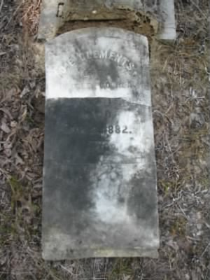 Clements, Quincy E 1882 tombstone.jpg
