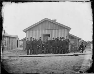 B-13 General Ulysses S. Grant and Staff of Fourteen...