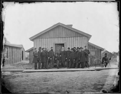Mathew B Brady Collection of Civil War Photographs › B-13 General Ulysses S. Grant and Staff of Fourteen... - Fold3.com
