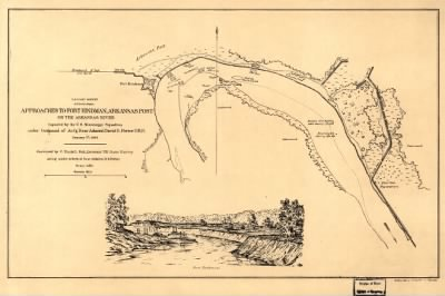 Approaches to Fort Hindman, Arkansas Post, on the Arkansas River : captured by the U.S. Mississippi Squadron, under command of Act'g. Rear Admiral David D. Porter, U.S.N., January 11th, 1863 / surveyed by C. Fendall, sub. ass › Page 1 - Fold3.com
