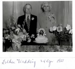 50 Years Wedding Anniversary -- 24 Apr 1951