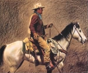 John Wayne on his Horse