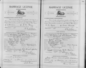 marriage cert.
