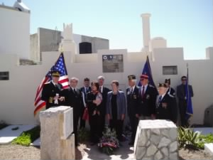 Corsican Memorial Plaque/Ceremony for the entire CREW loss 10 May'44