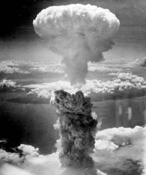 Hiroshima, 6 Aug and (This is) Nagasaki, 9 Aug.1945