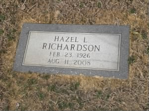 Hazel Richardson headstone