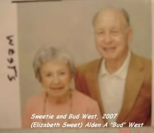 "L) Elizabeth ""Betty"" Sweet West, Ret. Col A A ""BUD"" West's wife ""Sweetie"""