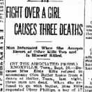Fight Over A Girl Causes Three Deaths