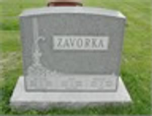 Zavorka Headstone In New St Marcus Cemetery St. Louis Missouri.