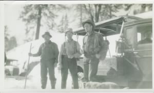 Irwin Burgess, Henry Merema, Jasper Miley after rescuing the Nightingale family - January 1930.jpg