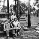 Frank with his sweetheart Honora Howard and her friend Maria Bellamonte