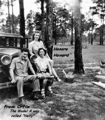 Frank with his sweetheart Honora Howard and her friend Maria Bellamonte - Fold3.com