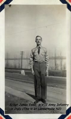 James Ennis, Army Infantry, 1943, Served in the MTO