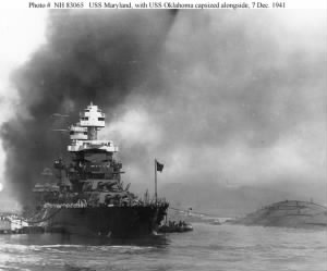 7_USS Maryland alongside Capsized USS Oklahoma_07Dec1941.jpg