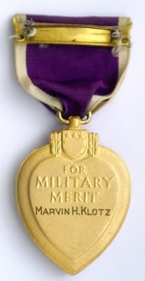 Posthumous Purple Heart for Marvin H. Klotz