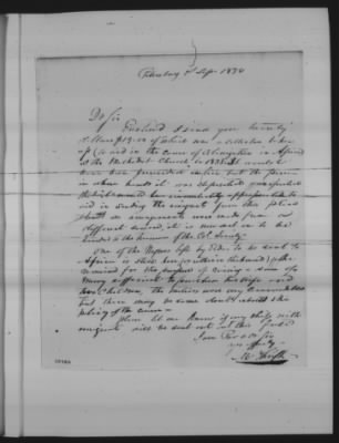 Letter Accompanying a Donation from a Methodist Church in Virginia
