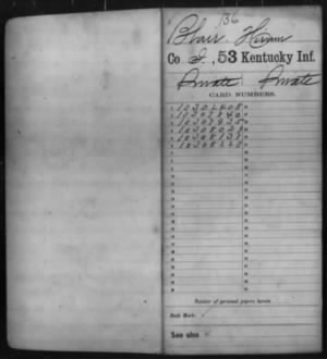 Blair, Hiram (Elihu) I 53 KY Inf Compiled Service Record Page 1.jpg