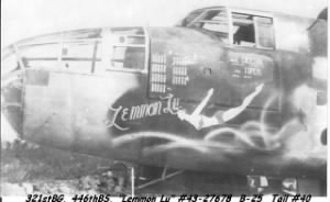 B-25 John flew Combat Missions in / 447th BS Edmond Rogowski Photo